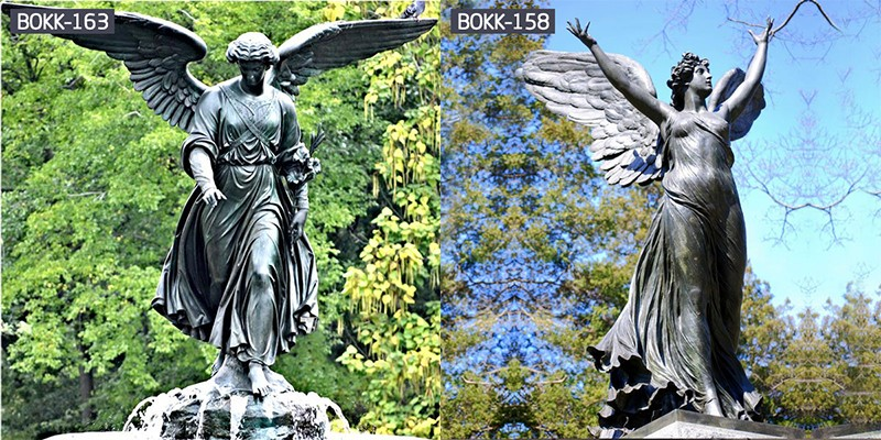 the Characteristics of Western Bronze Life Size Angels Statue.jpg