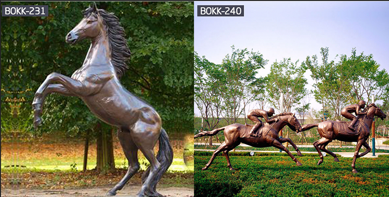 Large Antique Bronze Jumping Horse Statue -BOOK-.png