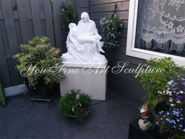 Classical Marble Mother Mary And Jesus Statue Mary Sculpture For Church