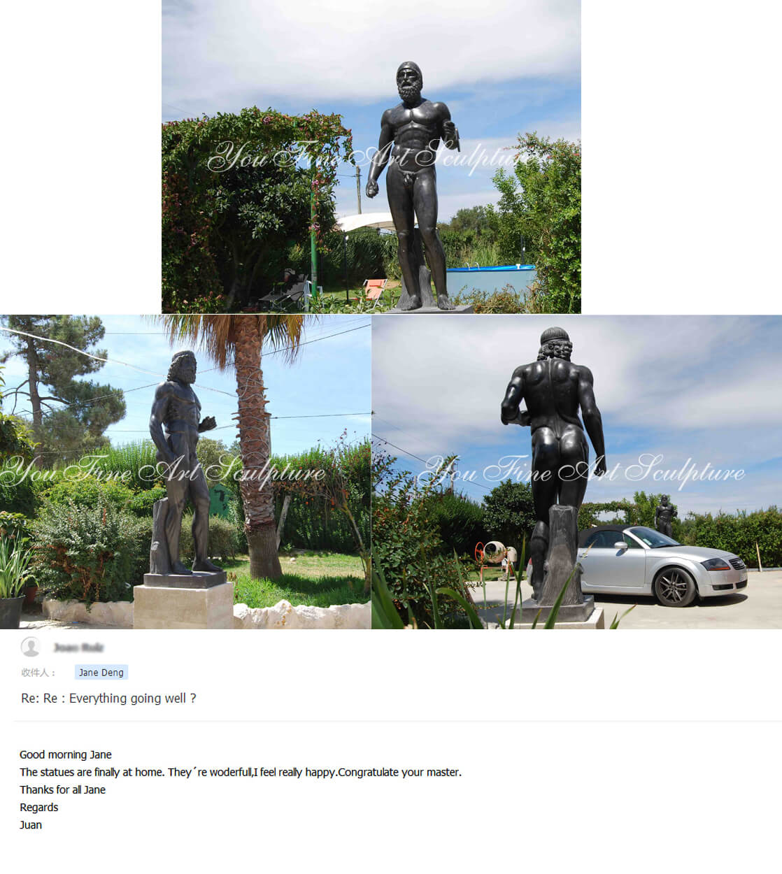 Famous art sculptures reproduction Ugolino and His Sons statue for the Belgian clients