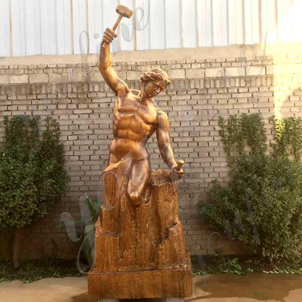 Large Custom Made Casting Brass Bobbie Carlyle Self Made Man Replica Outdoor Bronze Figure Statue Design for Sale BOKK-593