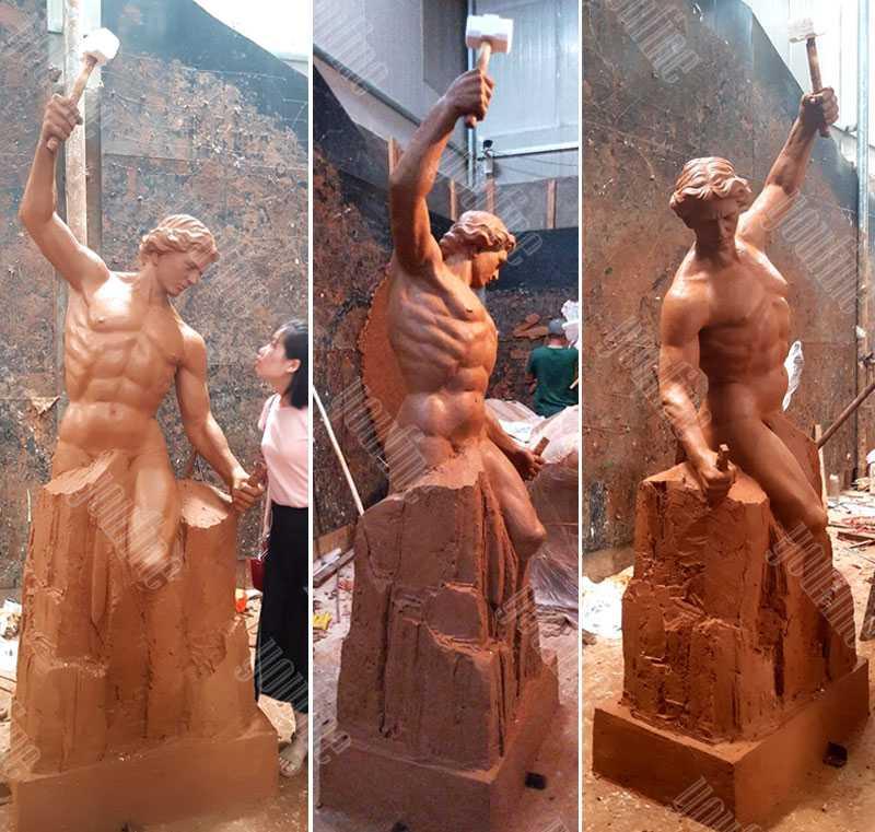 large custom made casting bobbie carlyle self made man replica outdoor bronze figure statue design for sale