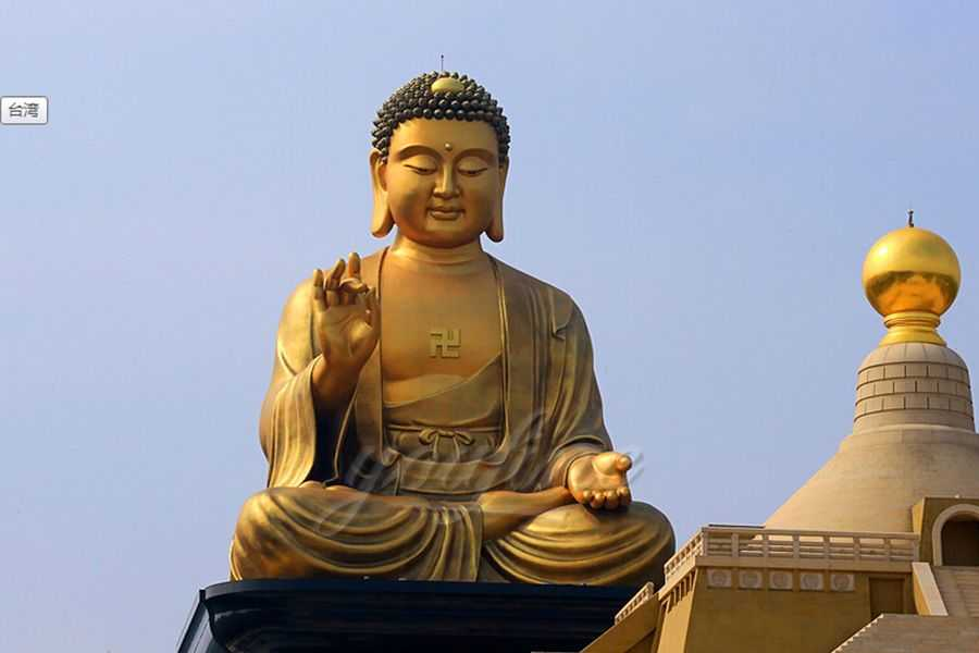 Large outdoor oriental bronze Tathagata buddha statue