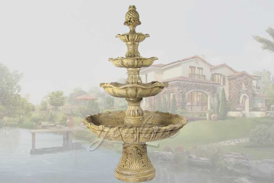 Decorative antique garden bronze tired fountain for sale