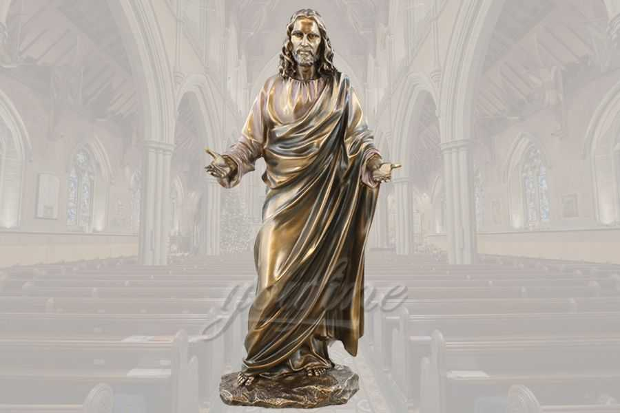 Life Size Famous Religious Church Detailed Casting Bronze Jesus Statue for Sale BRBC-02