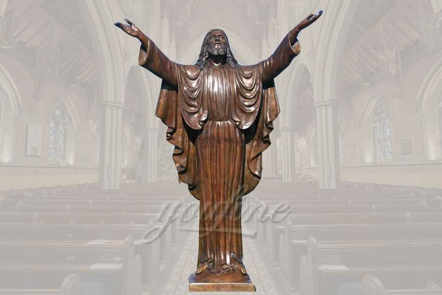 Life Size Great Standing Religious Sculpture Bronze Jesus Statue for Church Decoration for Sale