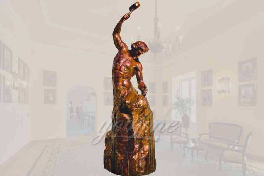 Classical decorative garden bronze self made man statue for sale