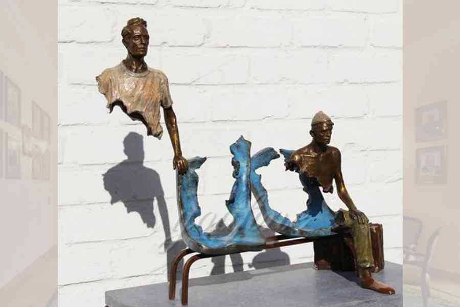 Abstract Bruno Catalano replica famous garden bronze traveler sculpture–BSBC-06