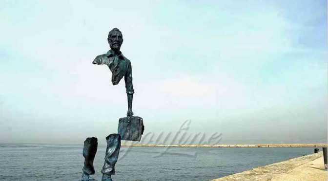 Distinguished Bruno Catalano replica outdoor abstract bronze traveler sculpture