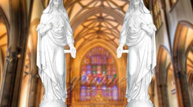Christian Garden Large Virgin Mary Marble Statue