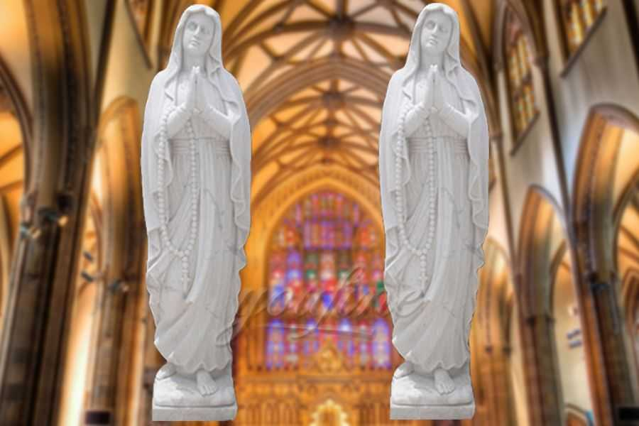 Decorative Life Size Marble Our Lady of Fatima Statue RSMS-02