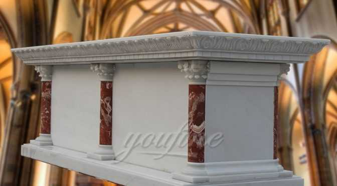 Hand Carved Long Last Supper Marble Altar Table