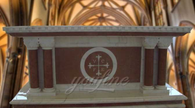 Hand Carved Religious Church Catholic Marble Altar for Sale RSMA-02