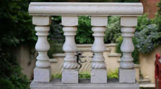 Hot design balcony beige marble stone balustrade for sale