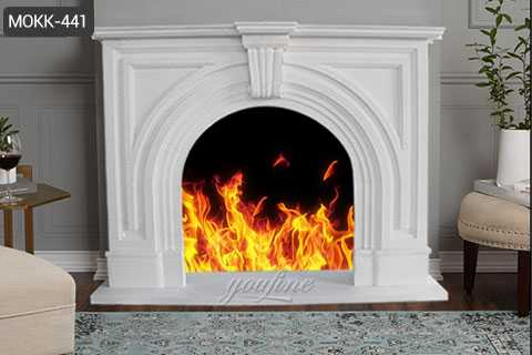Indoor Victorian white marble fireplace frame for sale MOKK-441