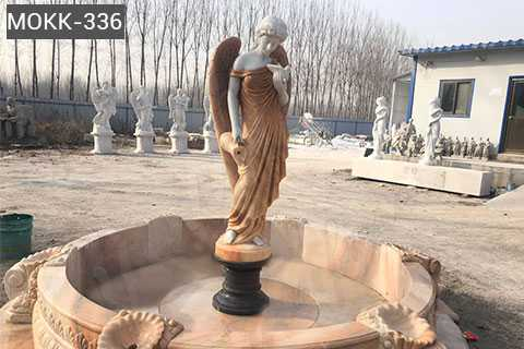 Garden Sale Statue Marble Angel Water Fountain With Shells MFSF-03
