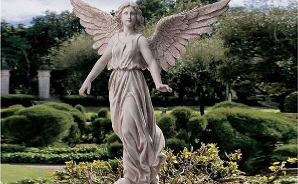Large Marble Angel Statue