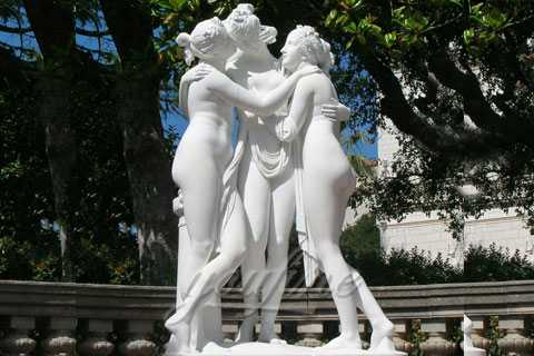 Famous Hand carved Marble Three Graces Sculpture