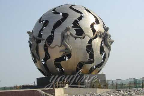 2017-Outdoor-Modern-Metal-Abstract-Full-round-sculptures-on-stand-in-park-for-sale (1)