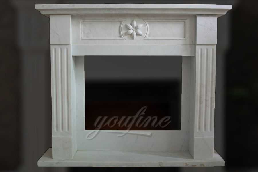 2019 indoor modern Regency white marble fireplace surround for sale