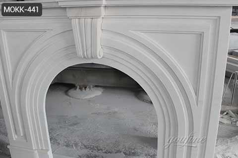 Victorian white marble fireplace