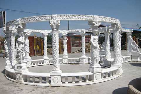 marble carving garden luxury gazebo