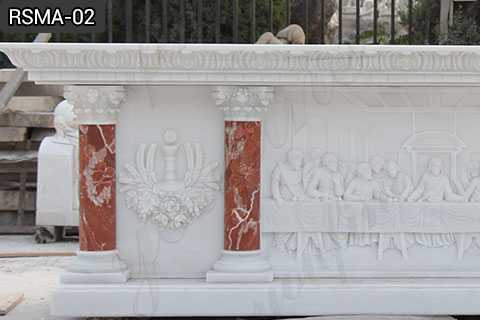 Hand Carved Religious Church Marble Altar