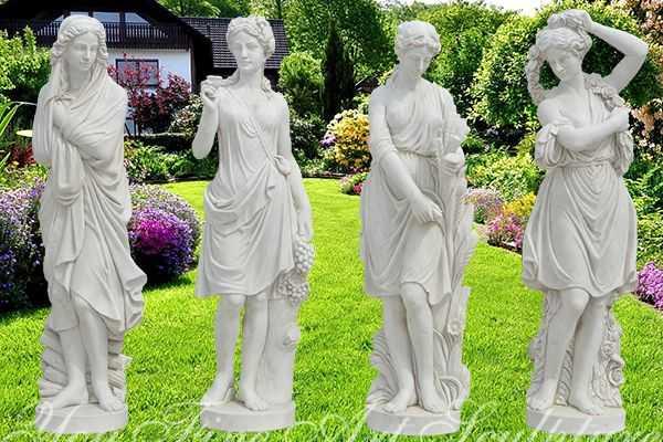 Garden Marble Four Season Statues