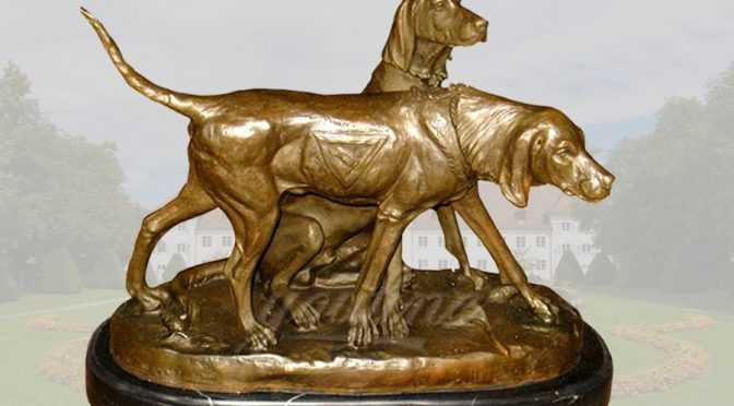 Life size bronze greyhound dog statue