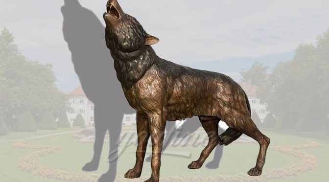 Custom life size bronze dog sculpture
