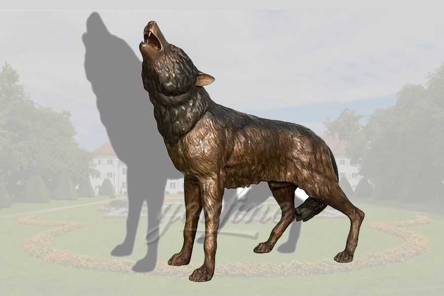 Custom life size bronze dog sculpture