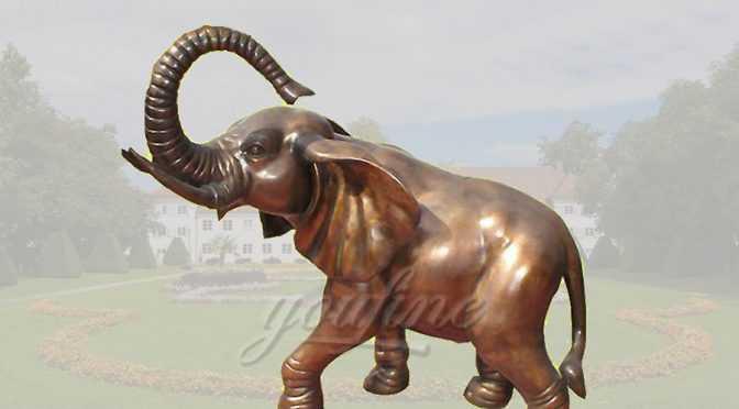 Outdoor western style bronze elephant statue