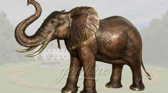 Customize life size bronze elephant sculpture