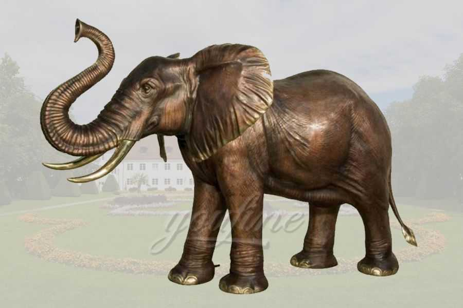 Customize Life Size Bronze Elephant Sculpture for Sale–BABE-03