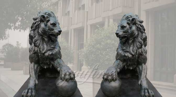 Outdoor Garden Bronze Lion statues For Sale