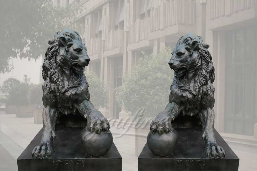 Outdoor Garden Bronze Lion statues For Sale