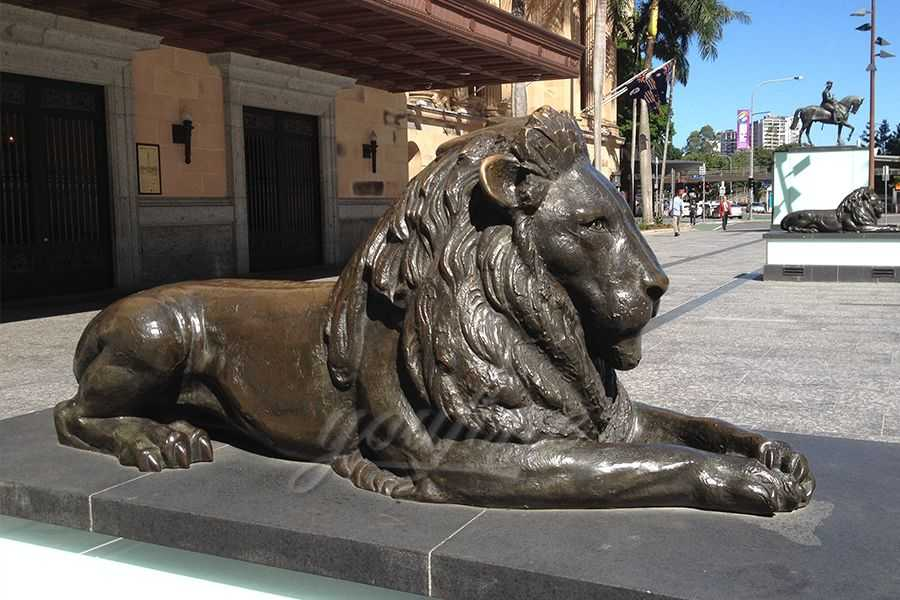 Antique Life Size Bronze Lion Statue BABL-06