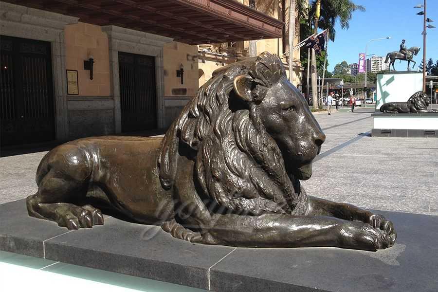 Antique Life Size Bronze Lion Statue BABL-06