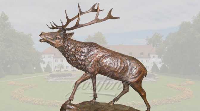 life size metal craft bronze deer statue of brass