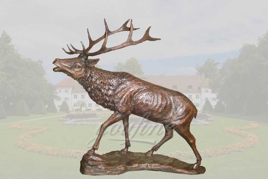 life size metal craft bronze deer statue of brass