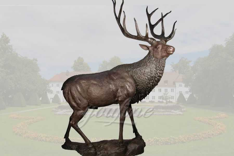 Decorative casting bronze deer sculpture
