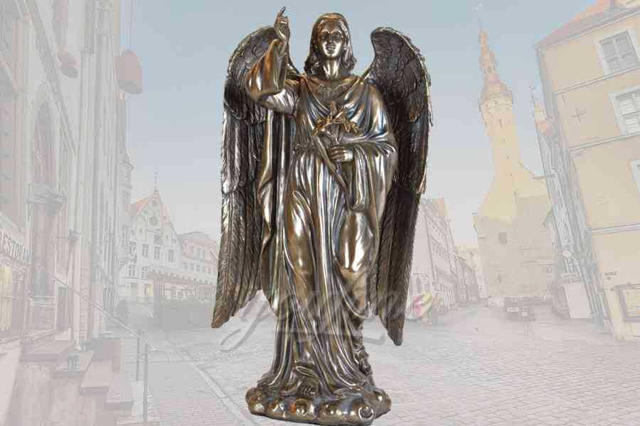 Classical large detailed casting bronze angel statue for sale