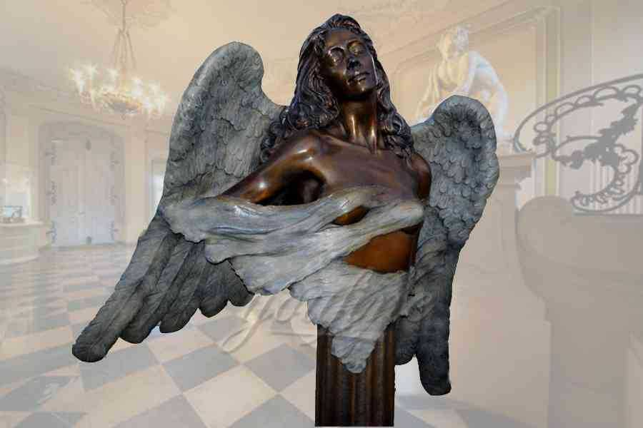 Graceful garden customized bronze angel statue for decor