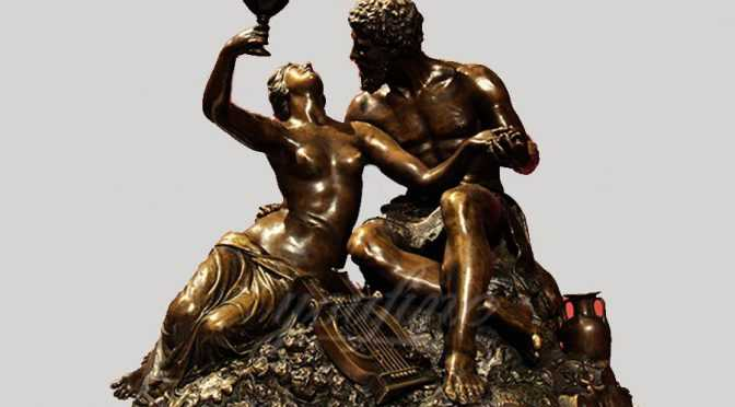 Decorative casting bronze couple life size nude statues
