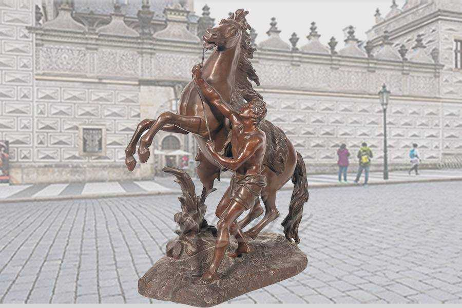 Decorative outdoor famous Bronze Marley horse sculpture