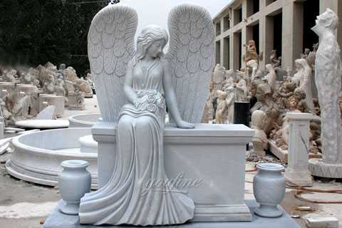 Hot Sale Beloved Angel Marble Headstone angel monument