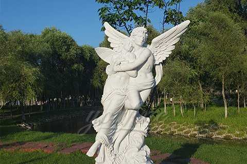 Famous Outdoor Angel Marble Statue of Cupid and Psyche For Garden Decor