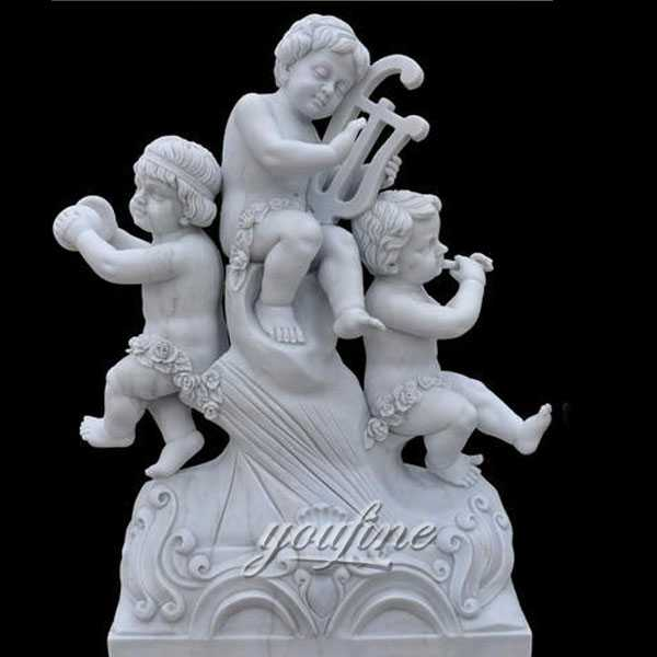 Best White Marble Statues of White Marble Little Angel Statues Cherubs Statue for sale