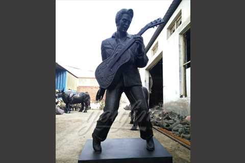 Bronze casting famous star statues of Elvis