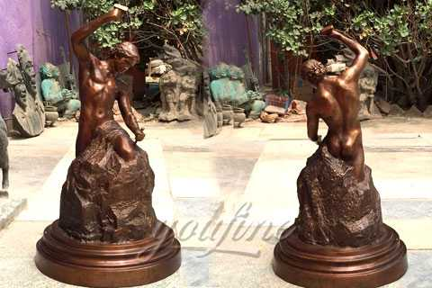 Bronze casting self made man sculpture